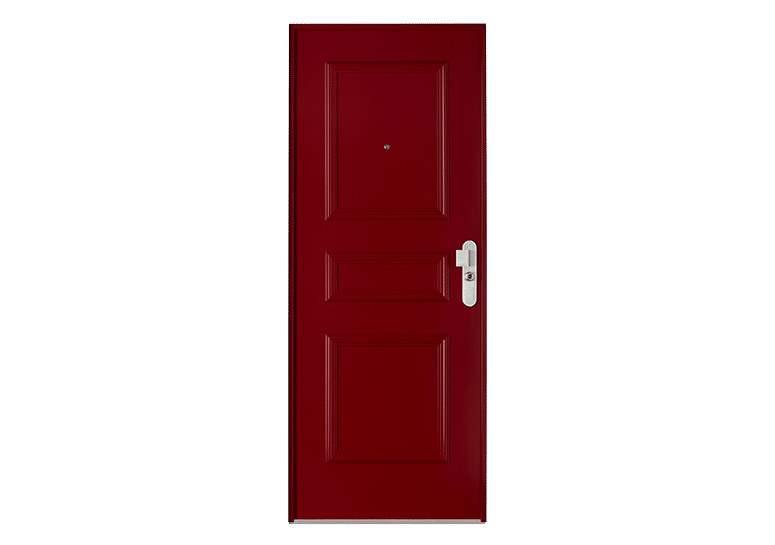 Porte blindée Fichet Foxeo S bordeaux