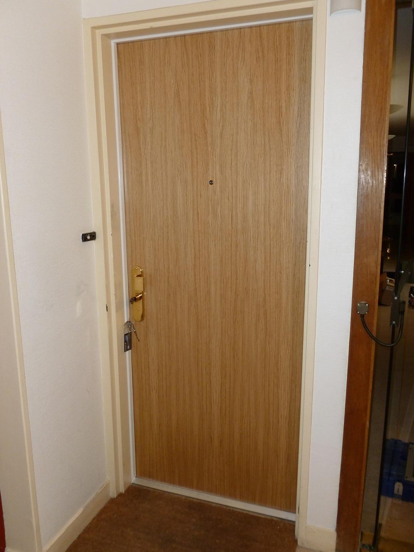 Porte blindée d'appartement Fichet Foxeo HIS décor chêne clair
