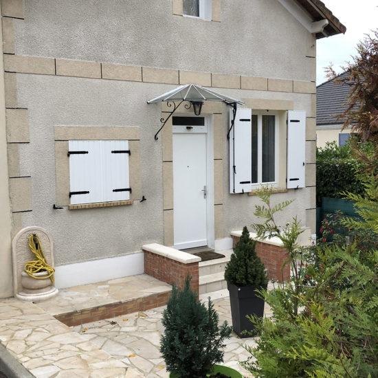 Porte blindée de maison Fichet Stylea avec imposte