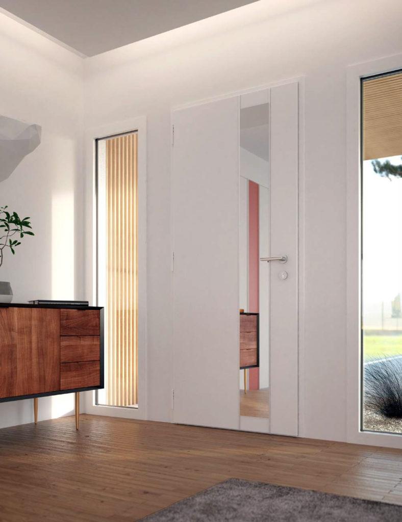 Porte d'entrée aluminium K.Line Surface miroir