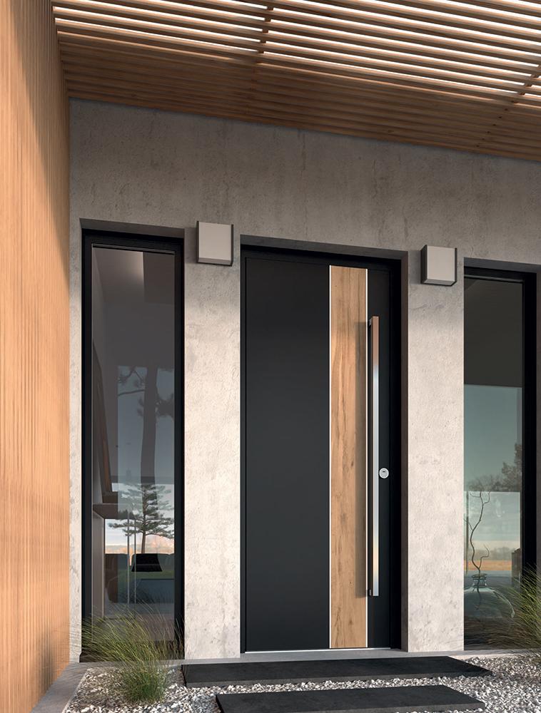 Porte d'entrée aluminium K.Line Surface