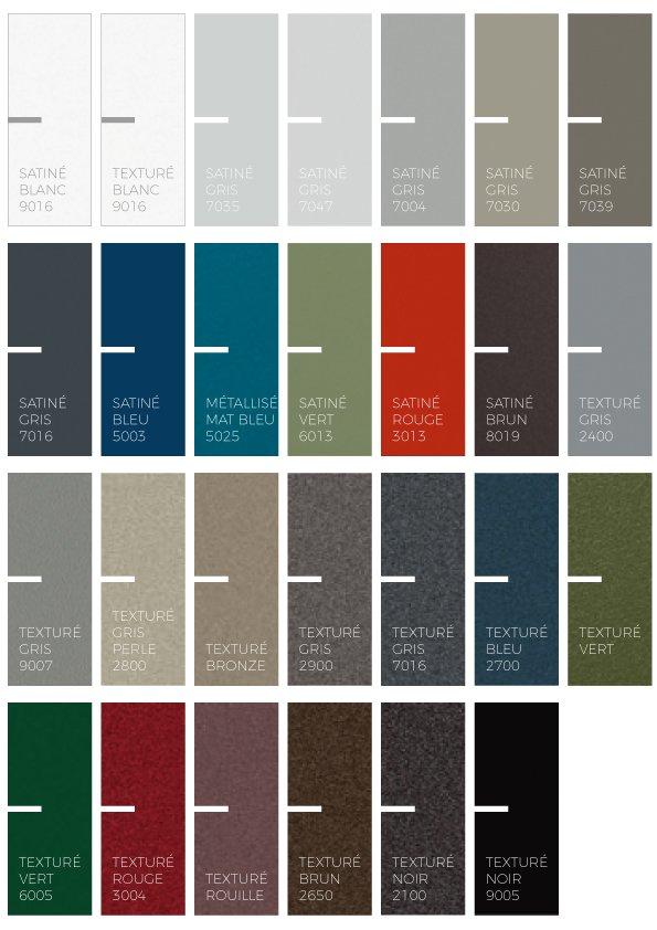 Coloris porte aluminium