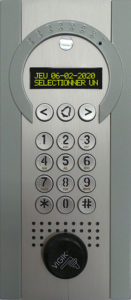 Interphone GSM 4G Intratone gris clair et argent