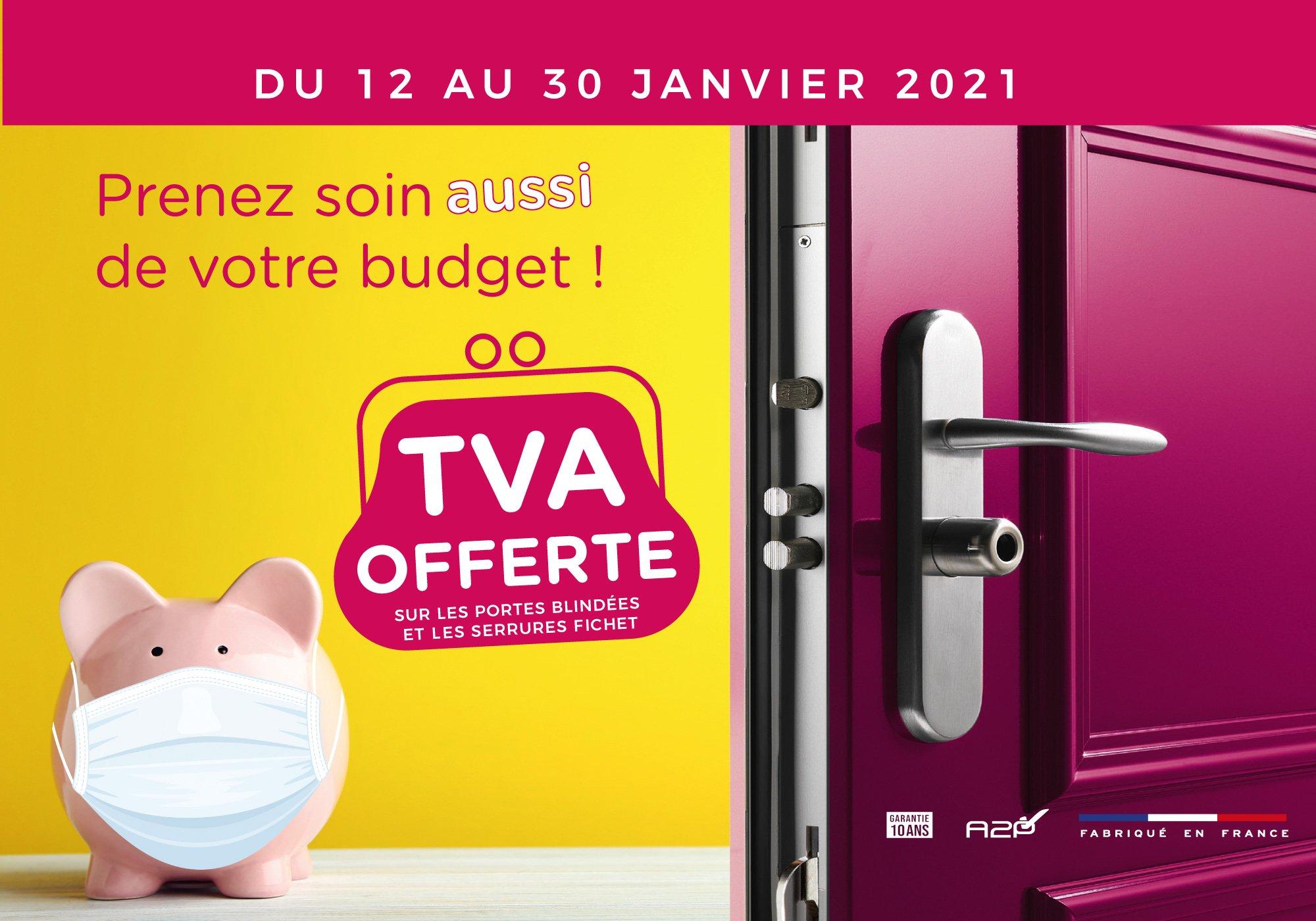 TVA offerte du 12 au 30 janvier 2021